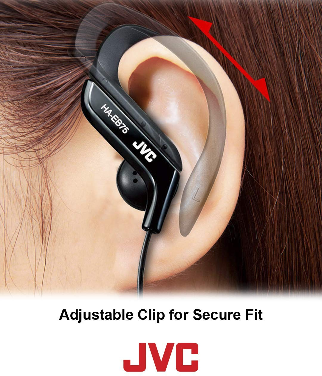 JVC Clip Style Headphone Blue and White Lightweight and Comfortable Ear Clip $14.99