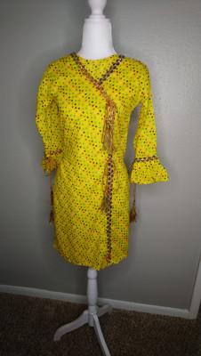 TZCreations kurti tops Tunic Yellow $23.99