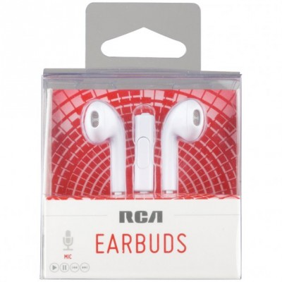 RCA HP180 Isolating Earbuds with Microphone $19.99